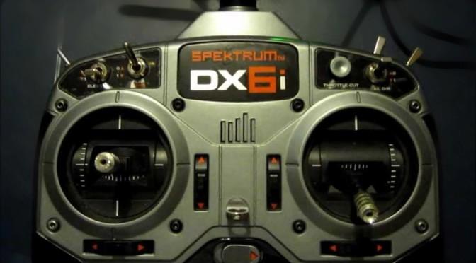 Kalibrace křížových ovladačů DX6i